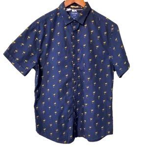 Men's Denim & Flower Slim Fit dress shirt L/42